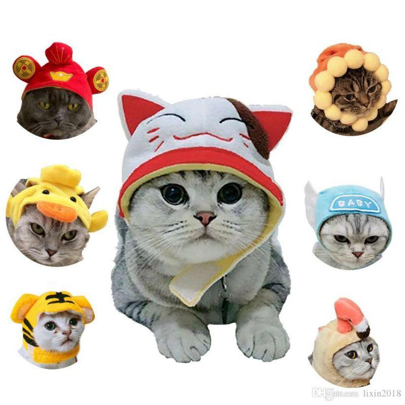개 고양이 조정 귀여운 코스프레 귀여운 만화 동물 모양 모자 채팅 액세서리는 채팅 가토 코스프레 의상 장식 할로윈을 붓고