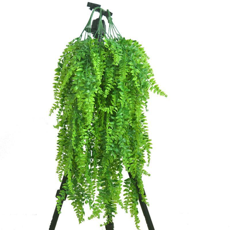 Поддельные Искусственные пластиковые персидский папоротника дерево Листья Пластиковые Зеленый Simulation завод Листья Ротанг Главная Сад Украшение стены