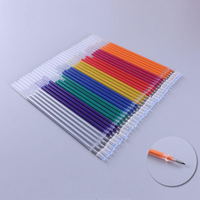 Pen saco de tinta multi Recargas coloridas Pinturas Núcleo Gel Colorido Lot Pen Cores Refill Gel 100pcs Lápis Gel bdetoys Set Bx01 Cor meREf