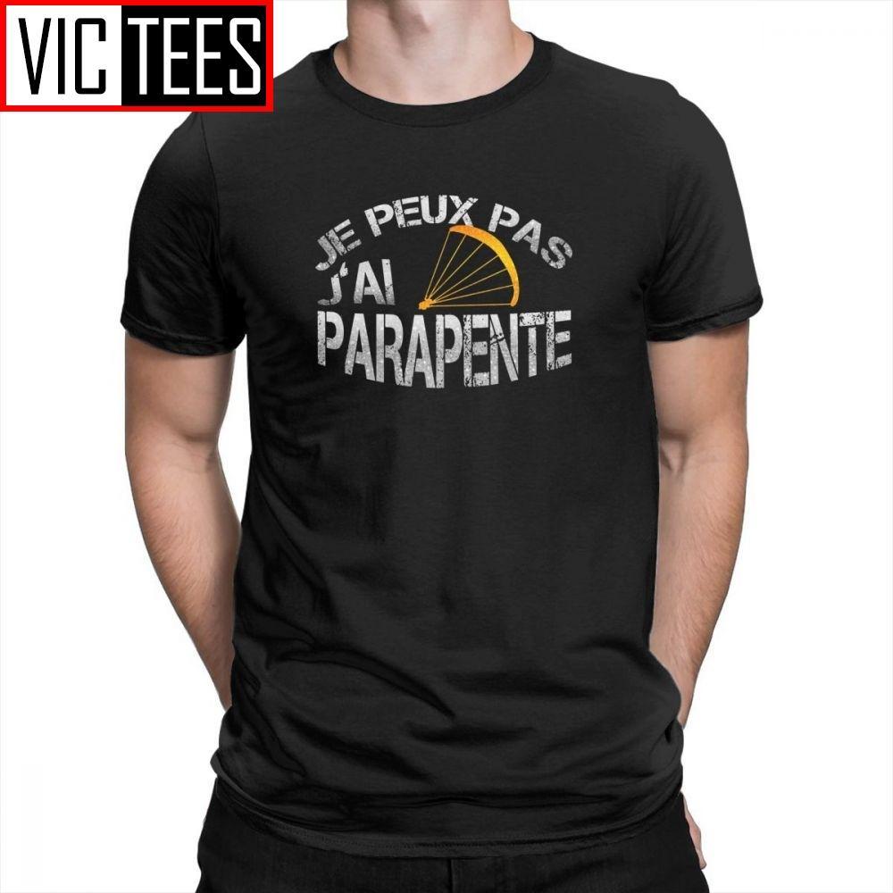 Параплан футболки параплана майка Мужские Crewneck Очищенная Хлопок Печатный Одежда Мужские футболки Стильные