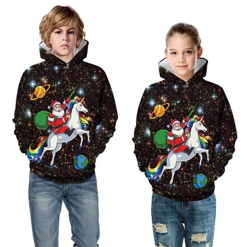 Дети Рождество Dinosaur одежду Цифровая печать Свитера Детский свитер с капюшоном Повседневная осень зима Спорт Детский бейсбол Равномерное
