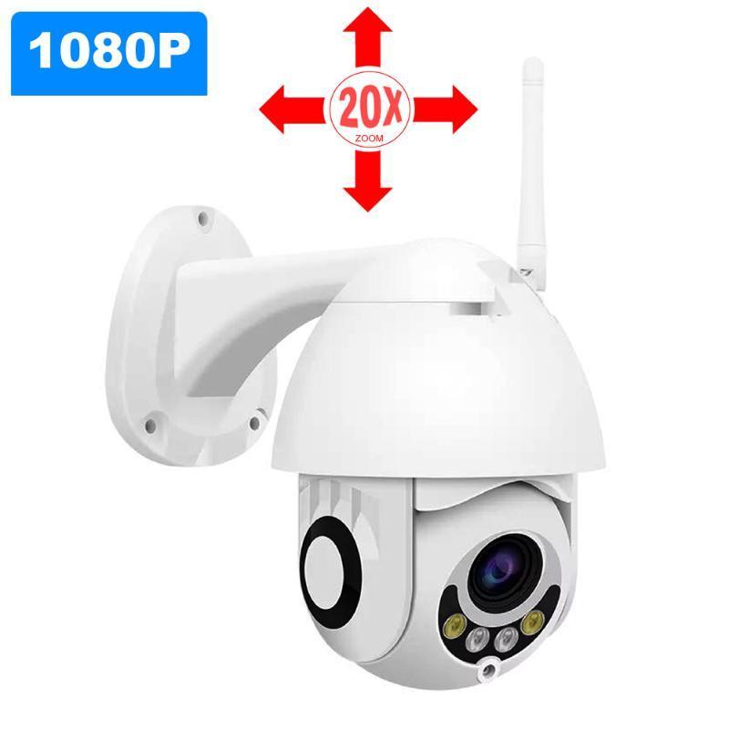 1080p Wireless Camera HD 20x Zoom Câmera IP exterior rotação AI Alarm Wifi Two Way Áudio CCTV Camer Segurança