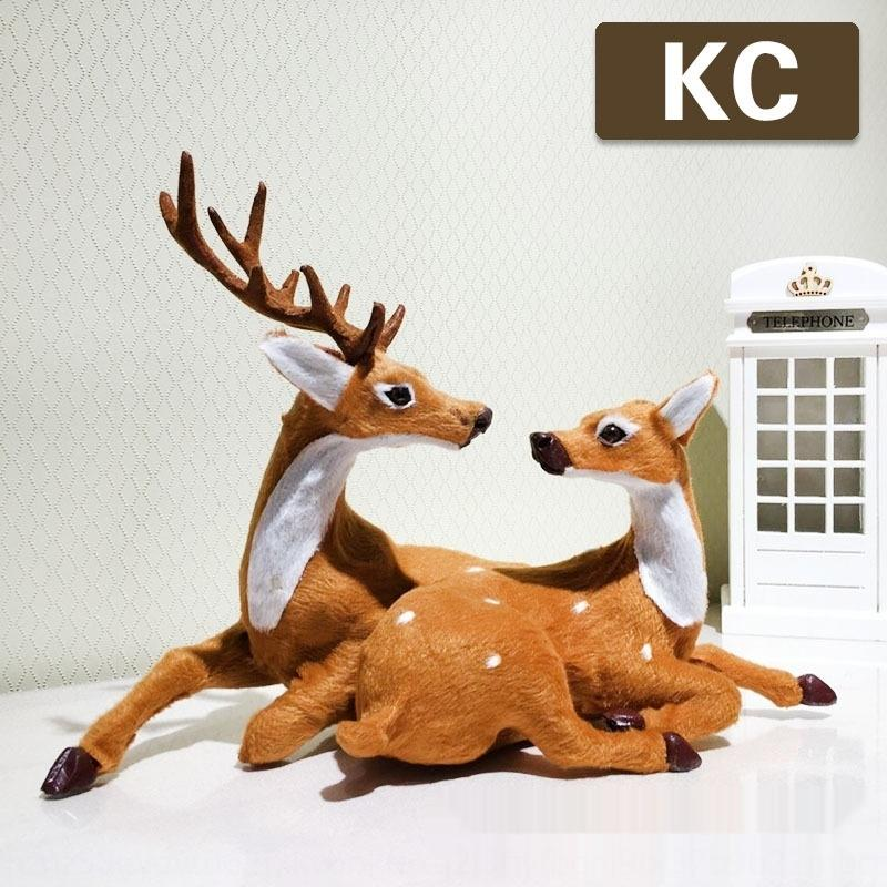 2020 nueva decoración rienda / Elk 2020 nueva pareja Pares de la Navidad de los amantes de los amantes de Navidad ciervos / Elk renos decoración ciervos o7DPT