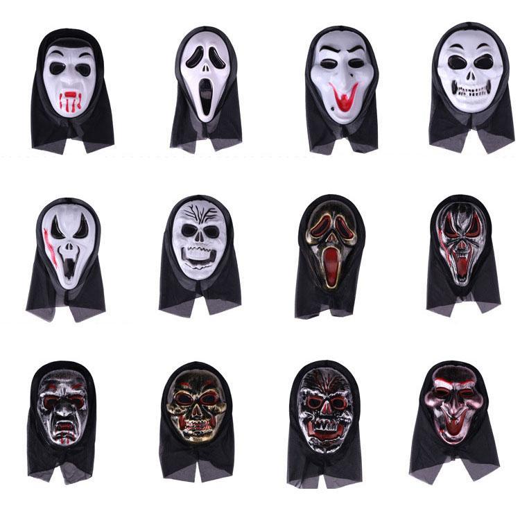 Halloween máscara horrível cara fantasma grito máscaras atacado brinquedos presentes