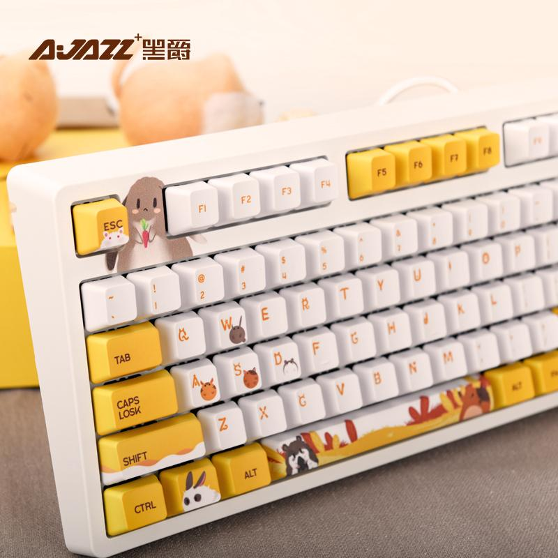 Teclados teclado mecânico de AJazz com backlit 104 keycaps Chave de cereja com fio USB tampa PBT