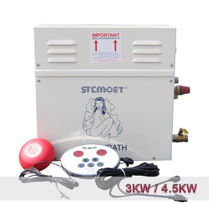 3 KW / 4.5KW Startseite Dampfmaschine Dampferzeuger Sauna Trocken Steaming Furnace Nass Steamer Digital-Controller Sauna-Maschine