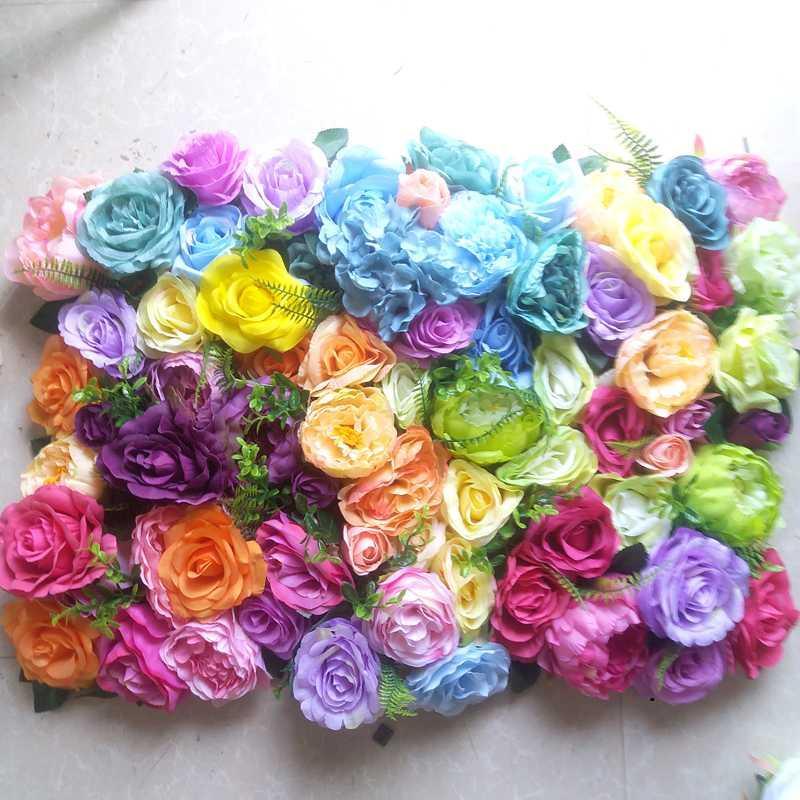 SPR fiori colorati bella occasione di nozze artificiale parete di fondo di fiori decorazioni