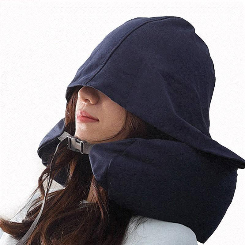 Avião Nap Viagem Escritório Sleeping Car U-Shaped Pillow Almofada suporte sólido pescoço capa leve lavável Durable