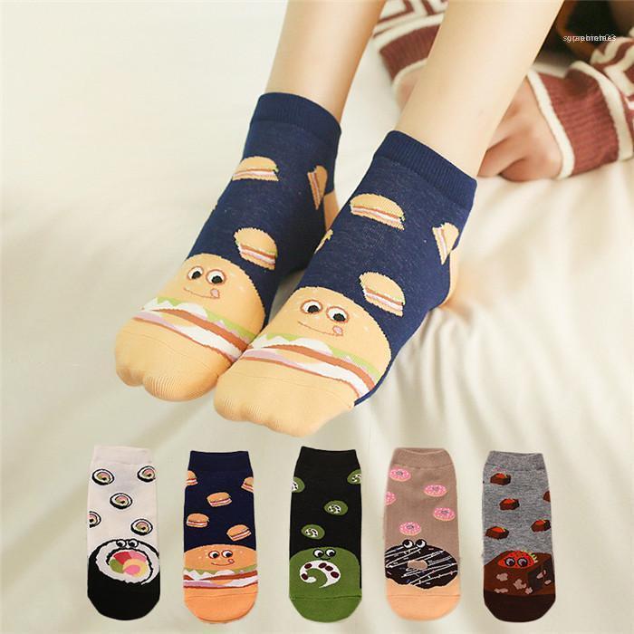 Designer Daily Sock Mesdames nourriture Motif mignon chaussettes Mode Printemps Automne Chaussettes Casual Famale