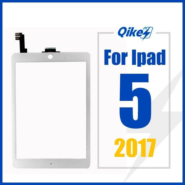 iPad 5 2017 pantalla táctil de cristal del panel del sensor A1395 A1396 táctil digitalizador de pantalla táctil FrameOuter reemplazo de cristal del panel frontal