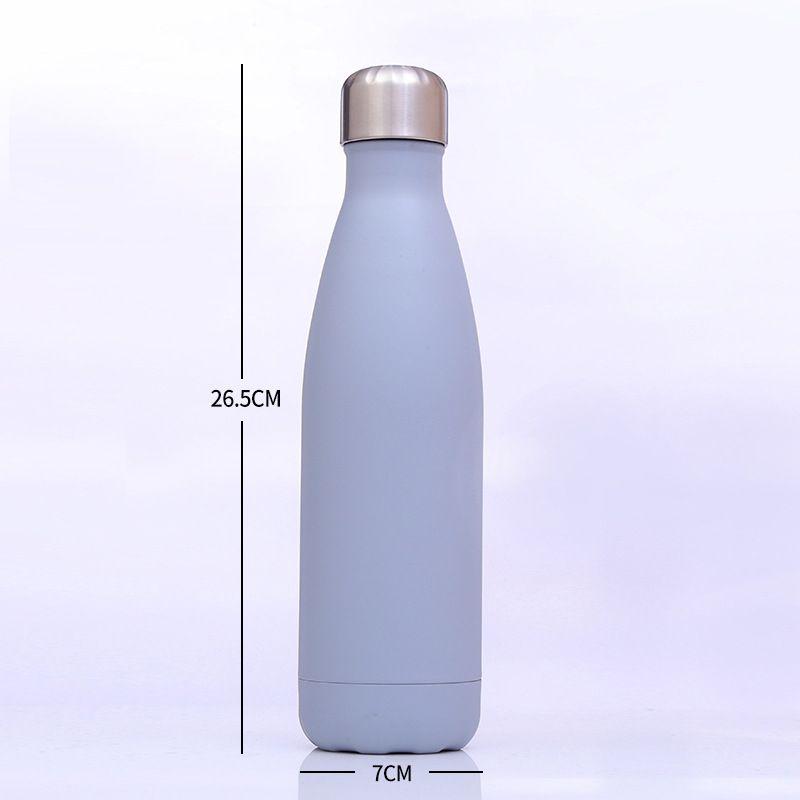 500ML 스테인리스 코크스 모양의 야외 물 병 콜라 모양의 병 절연 이중 벽 진공 고휘도 물병