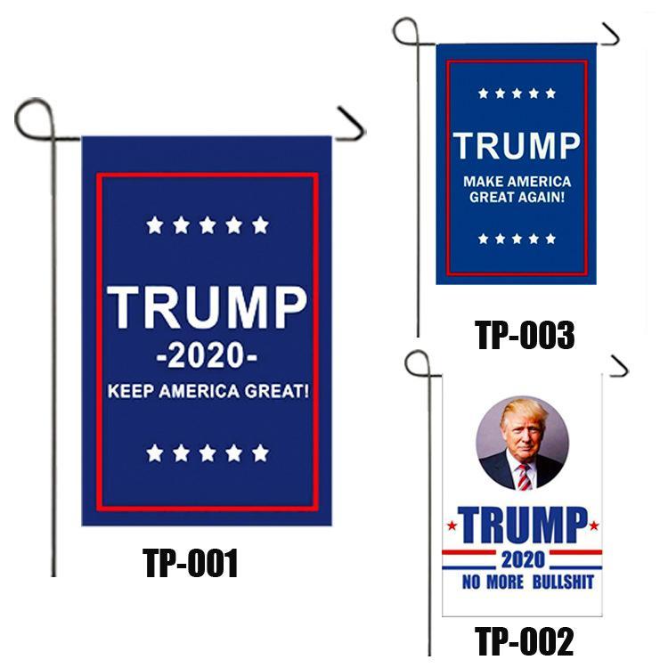 Singolo Sided US Election patriottica decorazione esterna Banner Giardino Bandiera Presidente Donald Trump 2020 Bandiera Marchio tenerci America Grandi VT1097
