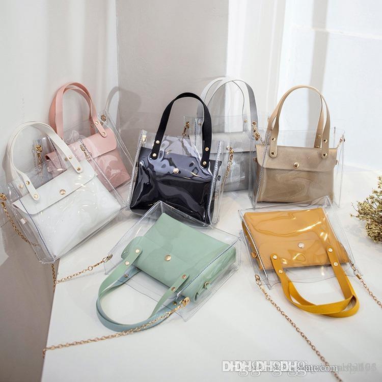 2019 marka moda tasarımcısı çanta Yeni sıcak klasik şeffaf jöle paket tasarımcı lüks çanta cüzdan tasarımcı crossbody omuz çantası