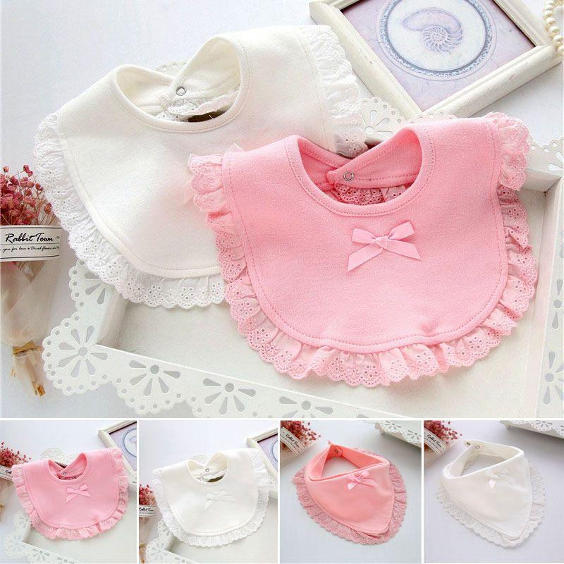Saç Aksesuarları Sevimli Kız Erkek Çöp Kumaş Bebek Önlükler Baberos Tükürük Havlu Moda Pamuk Doğan Dantel Yay Bebek K0271