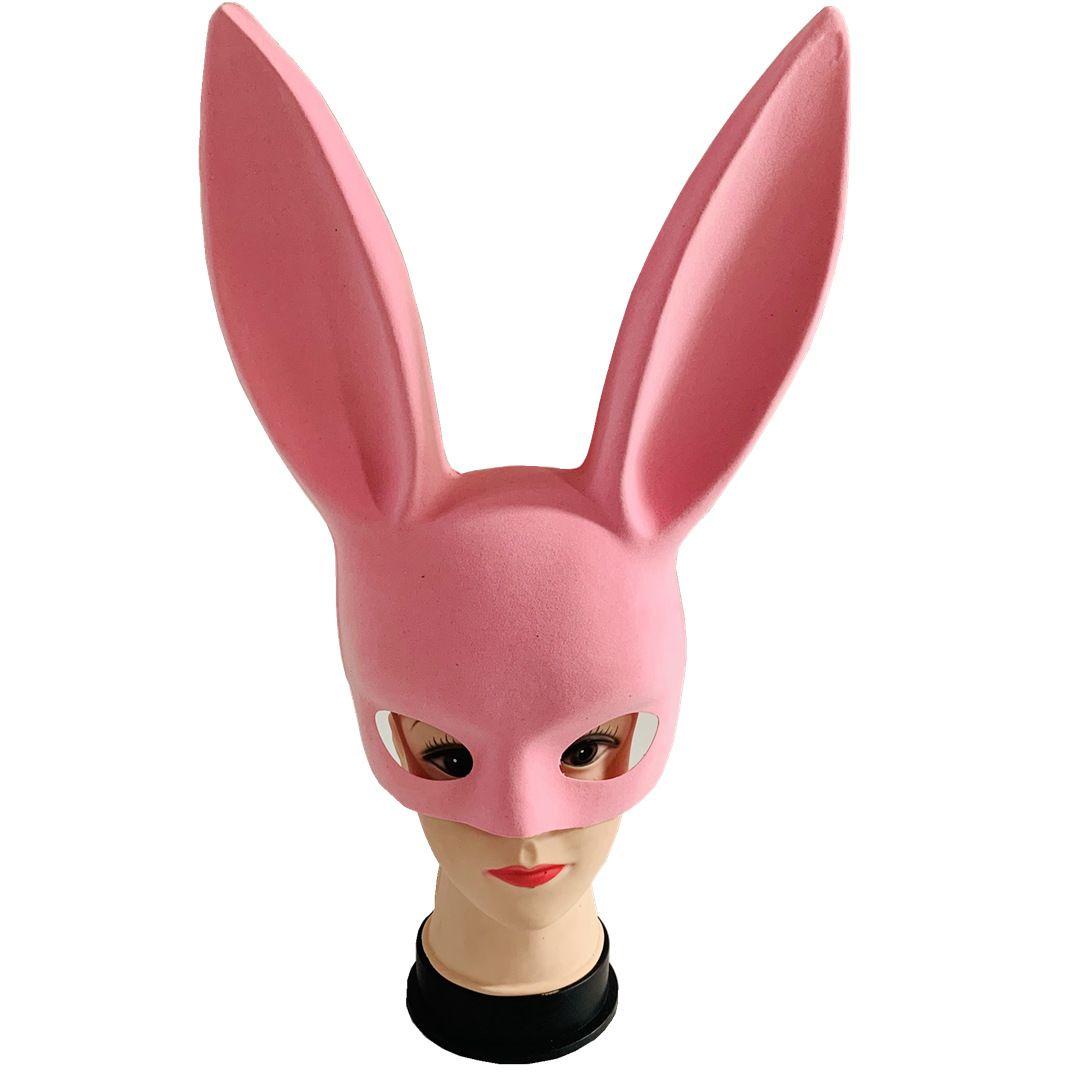 آذان الأرانب هالوين قناع الوجه شريط KTV الرقص حزب الأرنب فتاة شخصية قناع الإبداعي مرحلة نصف ماكياج الوجه الدعائم أقنعة مثير