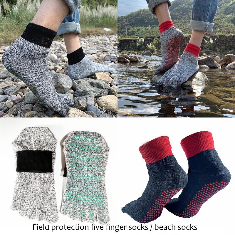 HPPE Short Beach Socks Diving Socks Non-slip Dive Snorkeling Swimming Yoga 5 Toe Cut Resistant High Quality