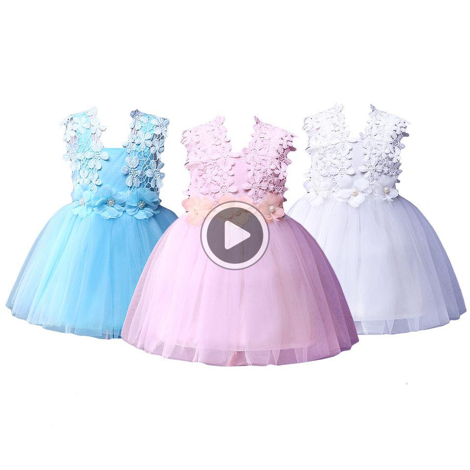 Pettgirl Fashion La Crochet Vest Girls Dresses Party Costumes Kids Summer Clothes Girls Sundress Children Clothing