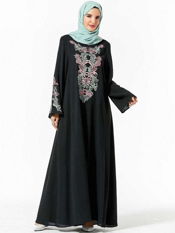 Plus Size 4XL musulmana Abaya abbigliamento delle donne Ruffle Maniche una linea di Dubai turco caftano maxi grande swing islamica dei vestiti dei nuovi MUSI #