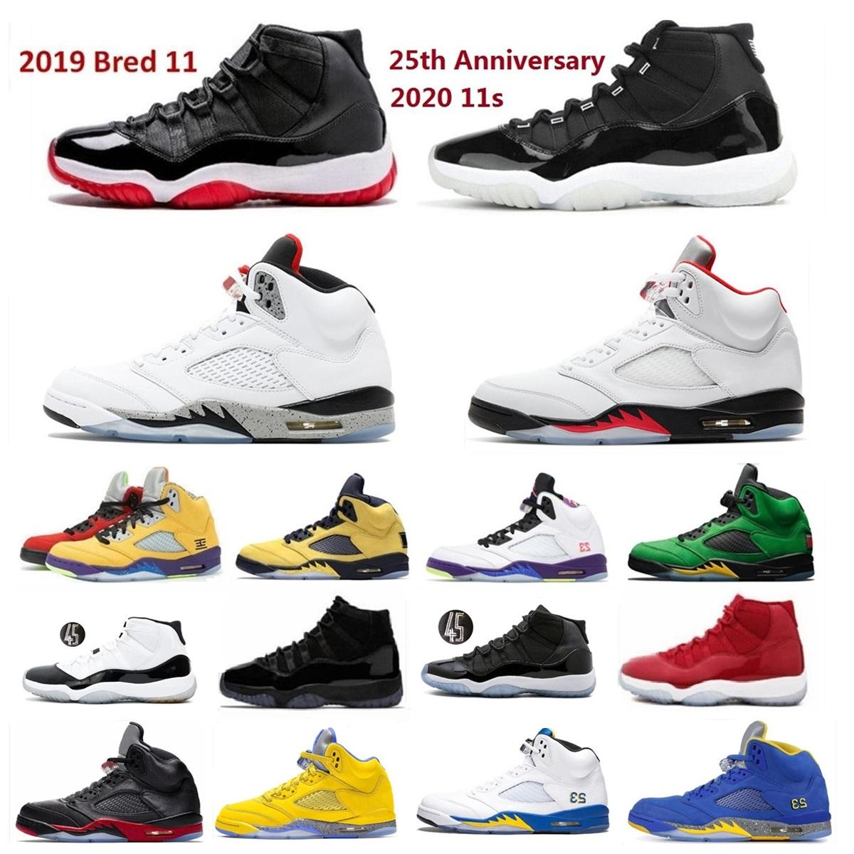 11 Basketbol Ayakkabıları 2020 25th Yıldönümü Düşük 11s Erkekler Beyaz Concord Bred Laney 5 Ateşi Kırmızı Michigan Çimento Kara Kedi Top 3 UNC Ördekler