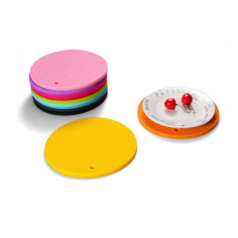 83.5g Verdickte Backformen Silikon Wabenmatte Runde Küche Wasserdichte Tischsat Tasse Kleber Wärmekissen rutschfest