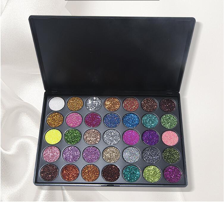 VERONNI Marke 35 Farben Metallic-Palette Lidschatten Glitter 35 Farben Kyshadow Palette Shinning Ihr Gesicht freies schnelles Verschiffen
