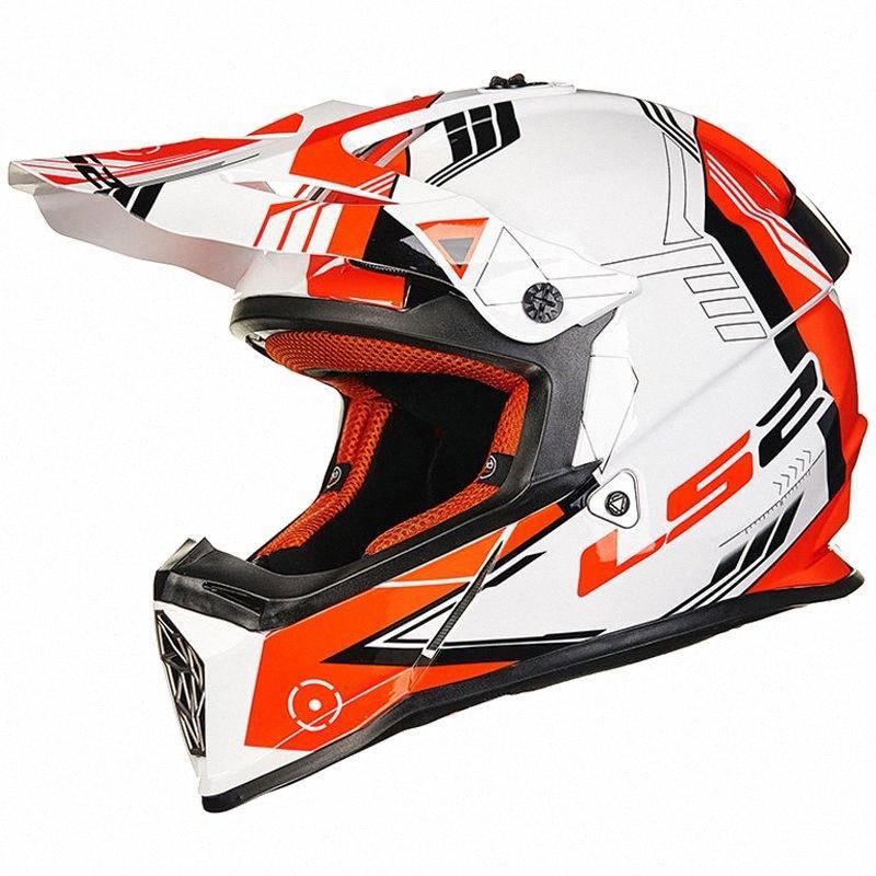 Motorcycle Off Road Helmet LS2 MX437 Racing Motocross LS2 Helmet DOT ECE Full Face ATV Dirt Bike Motocross Motorcycle Wsze#