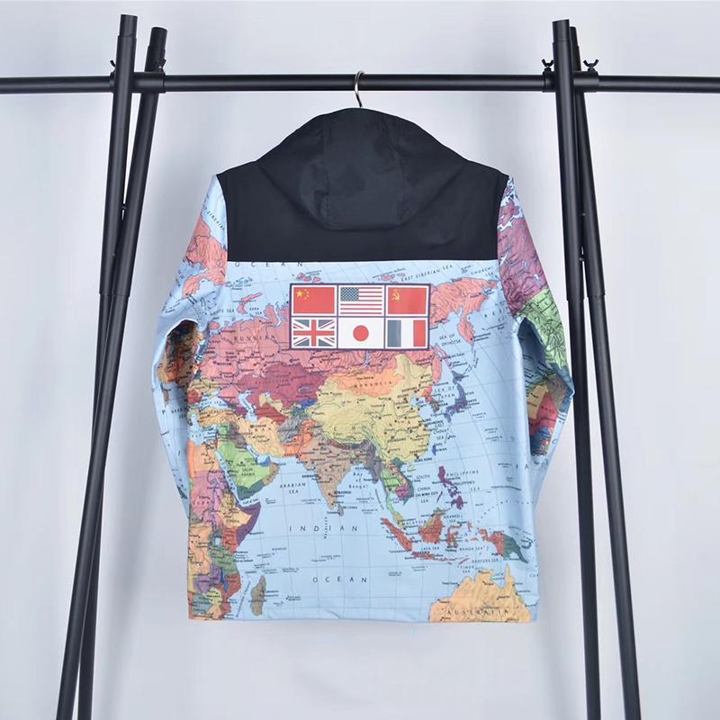 Giacca Moda Uomo Abbigliamento Uomo Donna Stampato con cappuccio Jacket Mens Stylist Jacket Mens Stylist cappotti di inverno di formato M-XXL