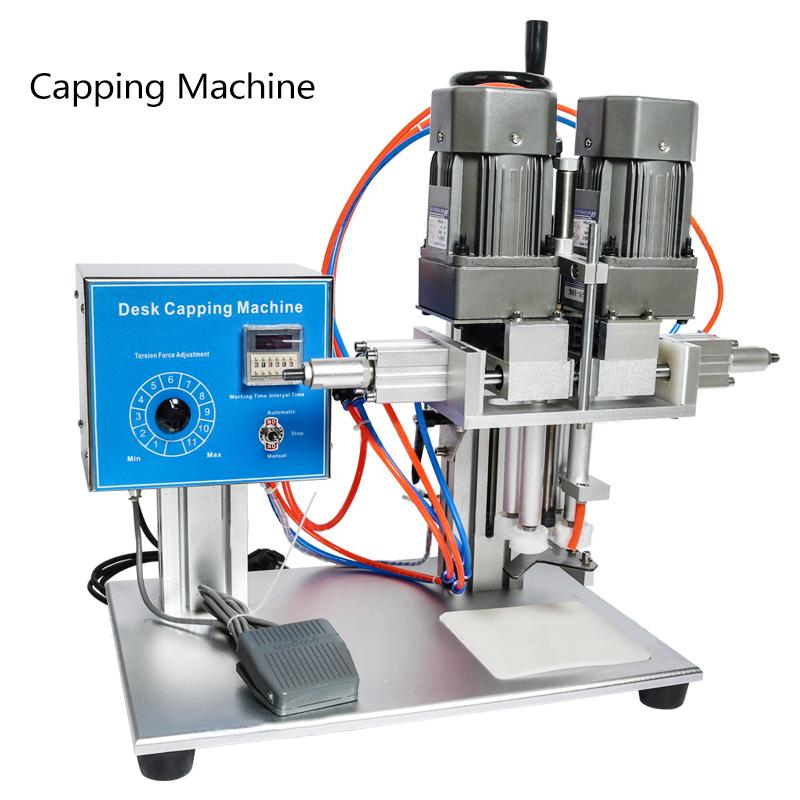Aparelhos de cozinha de 120W Automatic Capping Machine Especial Medical Pulverizador Cosmético Trigger Cap Shampoo Bomba 30-45 / Min 220V
