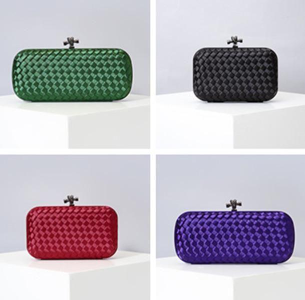 New Italien Designer Taschen Seide gewebt Abendessen-Beutel-Kleid Bankett-Beutel-Handtasche Schulter Woven Taschen-Party-Taschen