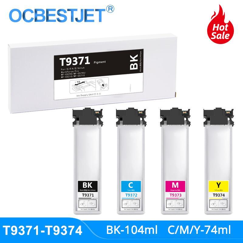 T9371 T9372 T9373 T9374 Ink Cartridge With Pigment Ink For WorkForce Pro WF-C5790DWF WF-C5290DW C5790 C5290 Printer