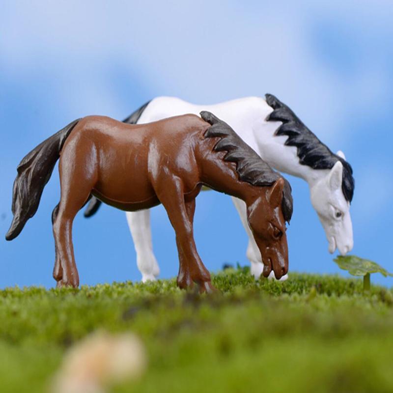 Ornamento planta miniatura del caballo Animal muñeca Micro paisaje Bonsai decoración de la tabla de bricolaje Hada del jardín de accesorios