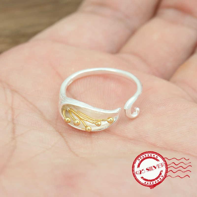 S925 plata de joyería de moda personalidad retro anillo de plumas forma de flecha pareja de apertura de los hombres 2020 nuevo regalo del amante