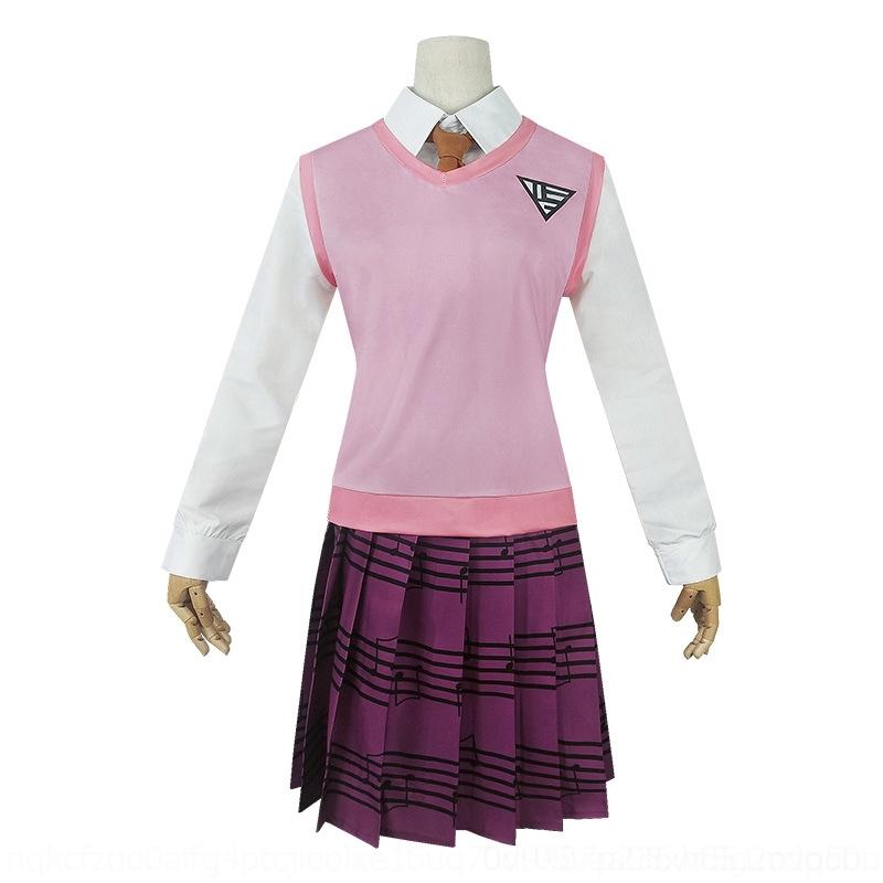 hrCoe dulce Dada la ropa nueva teoría de la bala uniforme de pino campus de la ropa de arce JK roto el rendimiento cosplaycostume Rojo