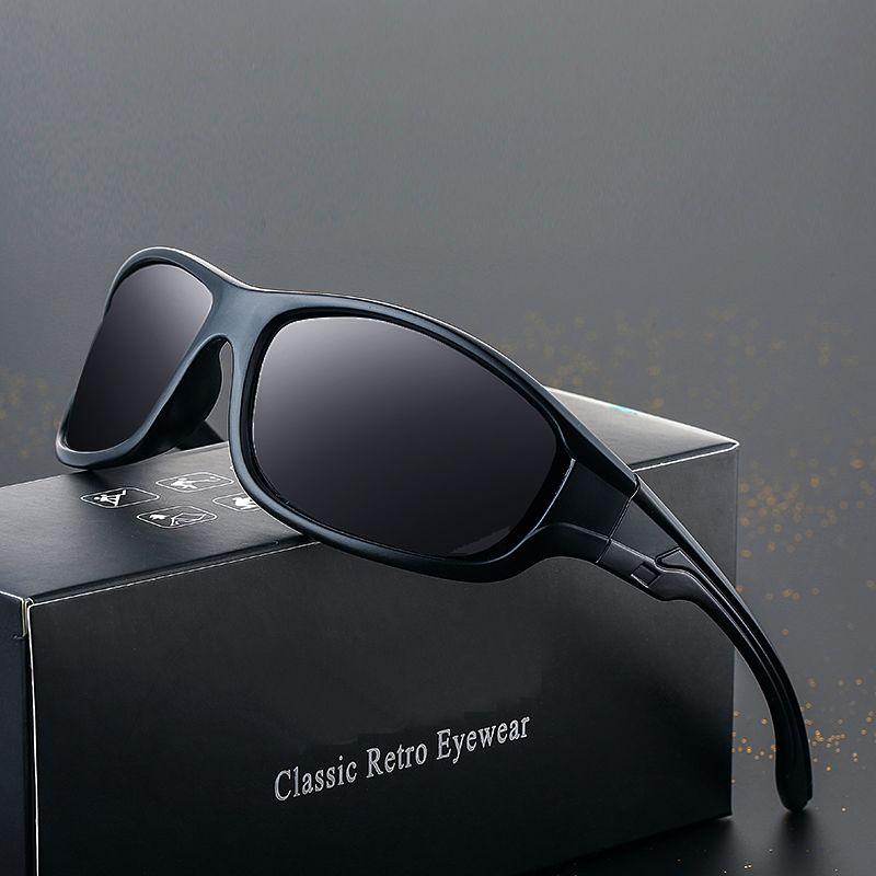 Ywjanp 2020 New Black Polarized Lunettes de soleil pour hommes Lunettes de soleil UV400 extérieur Conduite Pêche Lunettes Lunettes Mode