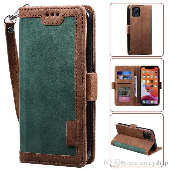 Luxo Couro Retro magnética capa para iPhone 12 11 Pro XS Max XR X 7 8 Plus Virar cartão da carteira Stand Holder tampa do telefone Coque Samsung s20