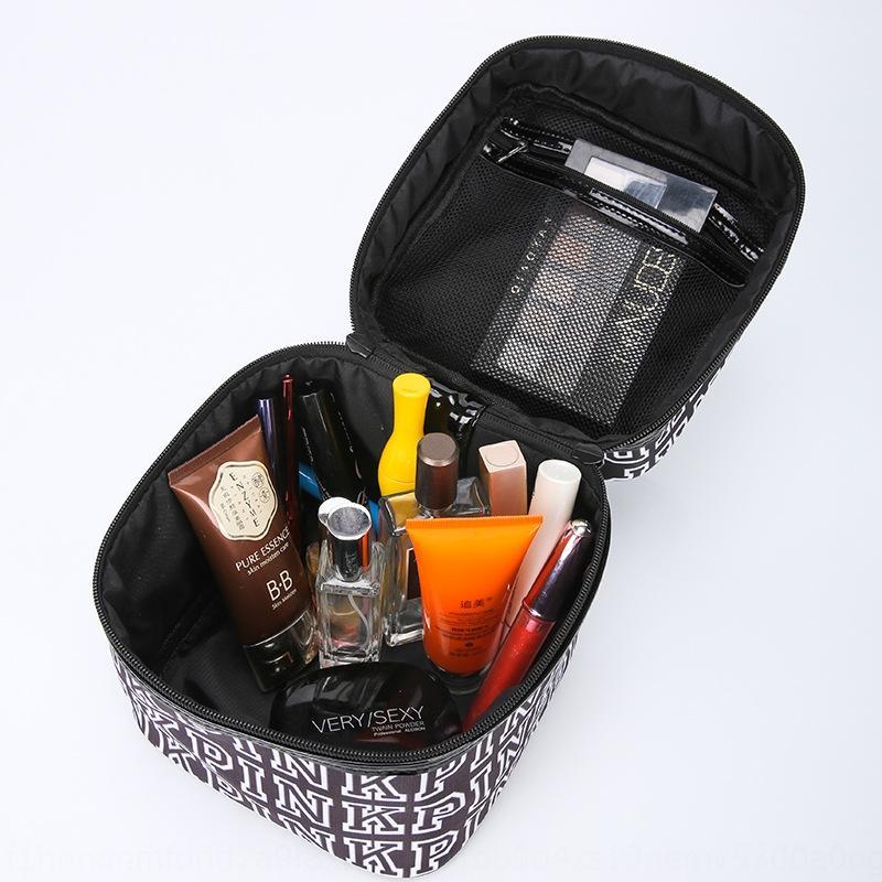 2020PINK Buchstabedrucken Reise koreanische Kapazität Speicher 2020PINK kosmetische Buchstabedrucken Reise Kosmetiktasche tragbar Korean tragbare capac