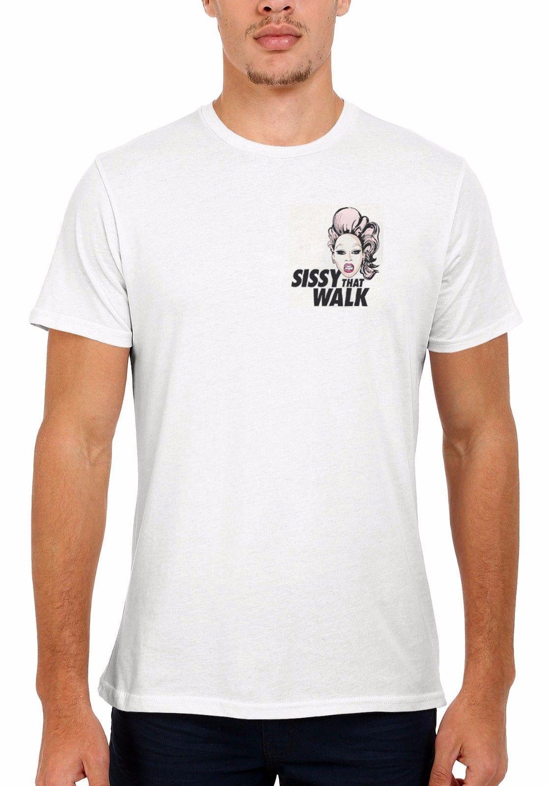 Rupaul Sissy Das Gehen Taschen-LGBT Männer Frauen Weste Unisex-T-Shirt 1976Cartoon T-Shirt Männer Unisex neue Art und Weise T-Shirt