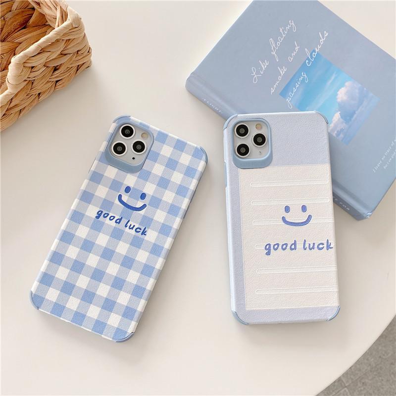 Iphone 11 Pro Max Дело Сетка Smiley корейский телефон чехол для IPhone Max Хг X Xs Max SE 2020 7 8 Plus Случаи Мягкий силиконовый чехол