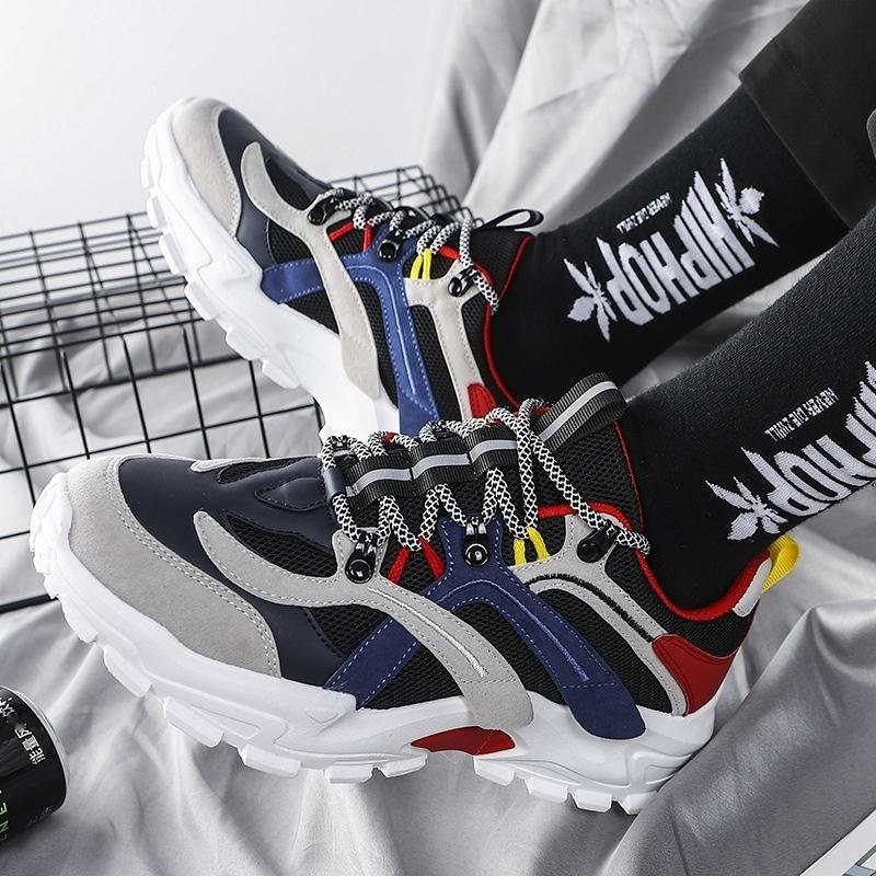 2020 primavera e no verão Esportes Esportes nova cor tênis pai correspondência sapatos versátil casuais moda sapatos masculinos sapato fábrica L4M1H L4M1