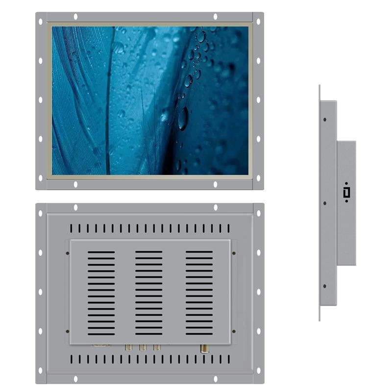 15 inch Industrial Computer Monitor TV HDMI USB VGA Embedded Open Frame Linux Ubuntu Raspbian Debian OS PC Monitor LCD Screen