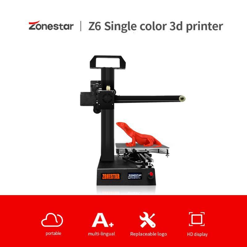 ZONESTAR Z6 Hızlı Ucuz Eğitim Studen Cebi Mini 3D Printer Yüksek Hassas Çözünürlük Full Metal DIY Takımı Ücretsiz Gemi Yükleme