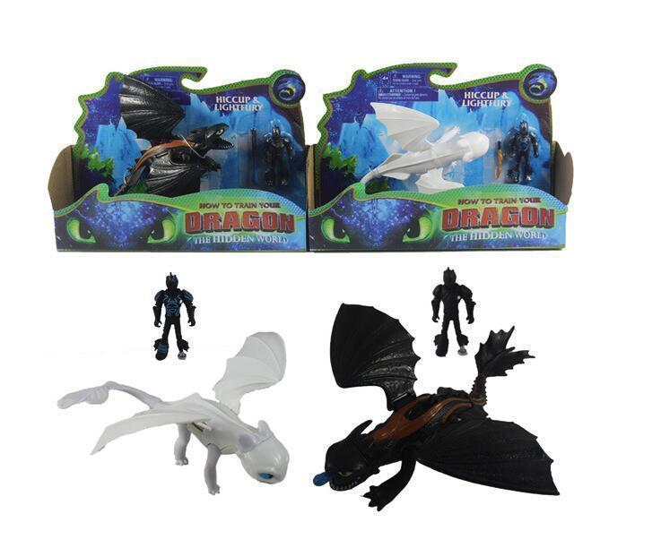 Comment dresser votre dragon 3 Light Fury Nuit Fury édenté Can Move Pvc collection Enfants Cadeaux Enfants S Toy cadeaux