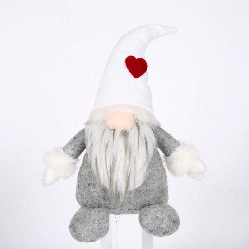 Sıcak Santa Gnome Peluş El yapımı İskandinav Tomte Nordic Nisse Sockerbit Elf Cüce Ev Ev Süsler Noel Sant Iw0J #