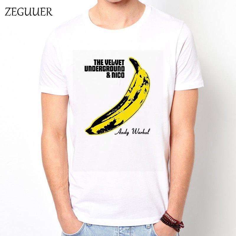 Femme FataleThe Velvet Underground camiseta Harajuku hombres de la camiseta de Calle Camisetas divertidas del viento algodón cuello redondo ropa ocasional