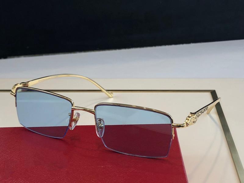 1164 Gafas de sol de moda Gafas de sol envueltas Gafas de sol cuadradas Marco cuadrado Anti-UV Lentes Estilo de verano Caso de calidad superior