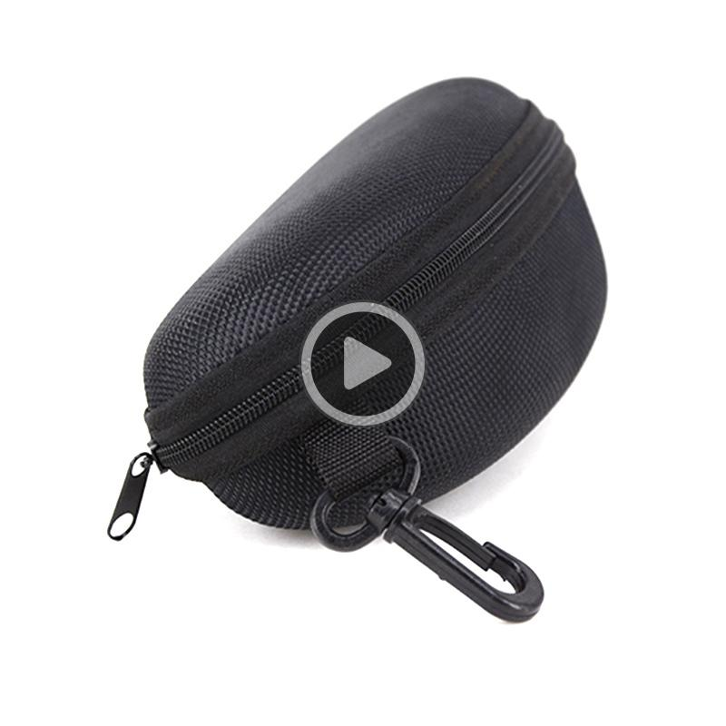Black Sunglasses Box with hook Hanger Zipper Glasses Case for Big Frame Hot Sale free shipping