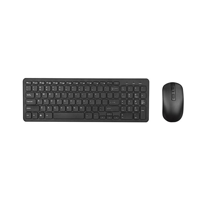 Teclado 2.4G Óptico Wireless Mouse Kit Wireless Mouse Receptor USB Combo para PC portátil portátil Suit Ultrafino Escritório