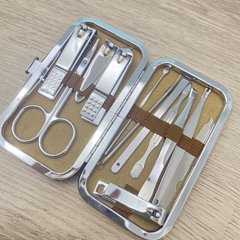 12pcs Nail инструментов наборов Обрезка кусачки для ногтей Ножницы набор уха выбрать одного гвоздь канавку педикюра воспаление мертвых клещи кожи бытовой инструмент
