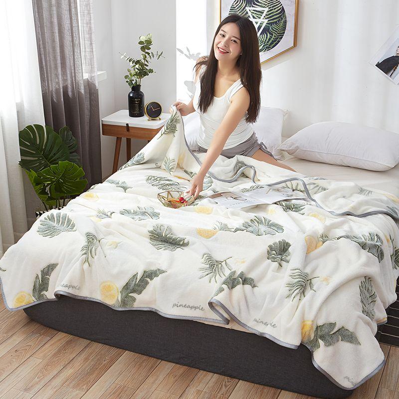 Novo Design espessamento inverno aquecimento Cow Individual Estudante Duplo Dormitório Milk Pele Blanket Meridian Resto Blanket