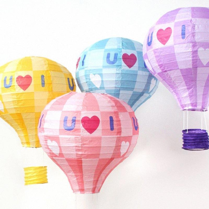 5pcs/lot 30cm I Love You Paper lanterns hot air balloon Valentine's Day decorations Baby birthday party wedding decor 4PVC#